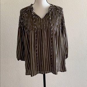a.n.a flowy striped blouse